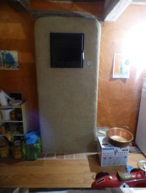 8k avec banc construit dans un mur de refend - Etape 2