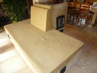 cuisinière de masse avec banc - Etape 1